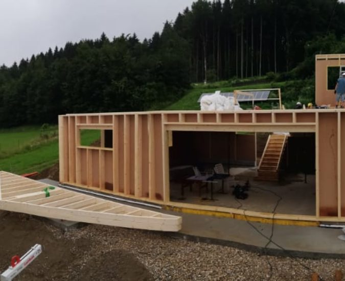 Einfamilienhaus Holzriegel